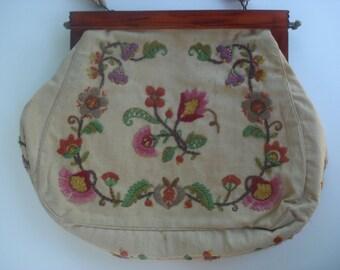 Exquisitely embroidered handbag
