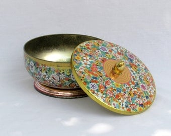 Pretty Floral CollectibleTin Designed by Daher of Long Island, NY Made in England
