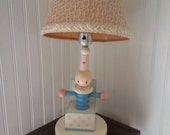 Vintage Jack in the Box nursery lamp, pastel colors, Young Design Inc. New York