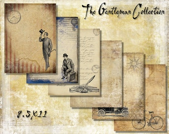 Digital Paper Pack The Gentleman Collection 8.5x11 downloadable printables