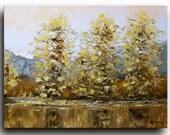 "16""x20"" Landscape Painting Oil Painting Original Abstract Landscape Oil Painting palette knife Painting ORIGINAL Art  by Tatjana Ruzin"