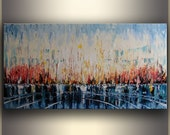"24""x48"" Large Oil Painting Abstract Oil Painting Original Painting Abstract Art Painting Oil Painting Seascape, by Tatjana Large Wall Art"