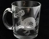 Dodo Bird Extinct Hot Glass Mug Tea Cup Coffee Mug Bird Alice in Wonderland