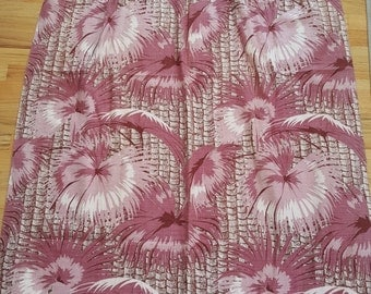 Beautiful 1940's Palm Barkcloth Drapes!