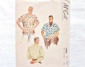 Vintage McCall 7499 Men's Sports Shirt Pattern Size Large