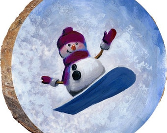 Skiing Snowman - DX030