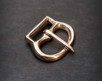 Medieval Oval Buckle with Attachment Bar, Bronze 24mm