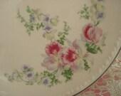 Vintage Wedding Dessert Plates Bread Butter Pink Floral Taylor Smith Taylor Shabby Cottage Chic Set of 2 Vintage Bridal Shower