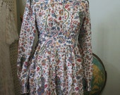 Pretty As A Peacock Vintage 1970s Free People Style Dress/Tunic