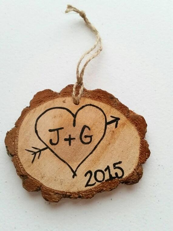 Handmade wood slice christmas ornament by gretashandmadegifts