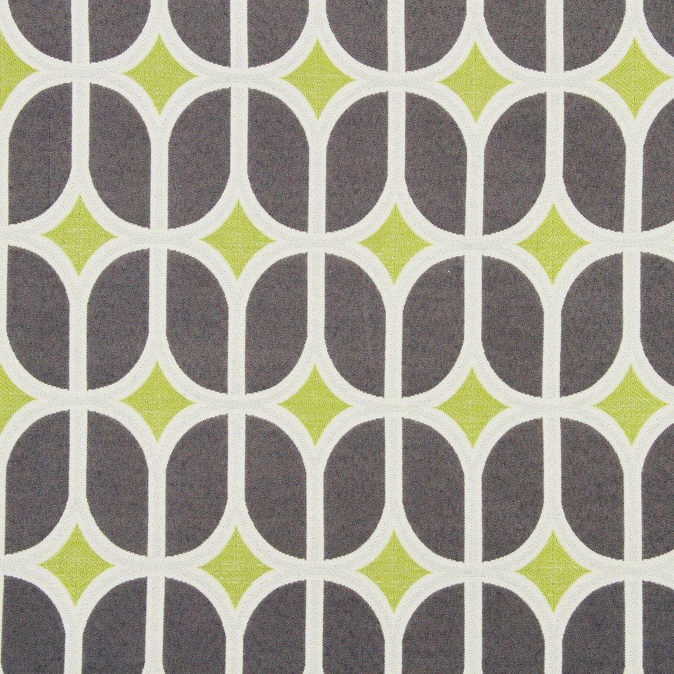 Grey geometric upholstery fabric modern lime green for Modern fabrics textiles