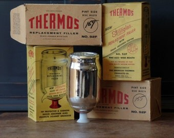 Vintage Thermos Replacement Filler, NOS, Ephemera, Paper, Advertising, Graphics, Collectible