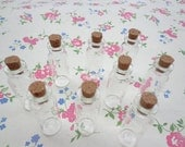100pcs Mini glass bottles with corks 15x 45mm