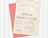 Book Themed Bridal Shower Invite | 5x7 | Double Sided