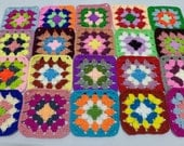 Crochet Granny Square Multicolor