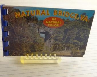 Vintage Natural Bridge, Virginia Souvenir Mini Photo Album   Collectible, Ephemera, Smash Book, Collage, Assemblage, Scrapbook, Junk Journal