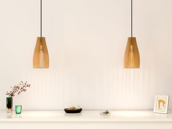 Ena wooden pendant light wood lamp spot light wooden by for Hangelampen uber esstisch