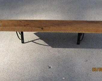 """Barnwood Shelf solid oak - 30"""""""