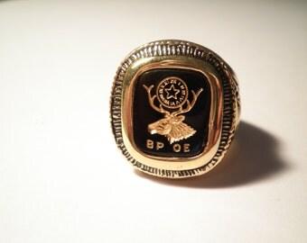 1 Goldplated Benevolent Protective Order of Elkes Ring