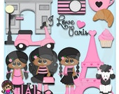2015 Paris Chic AA African American  Clip art  Clipart Graphics  Commercial Use