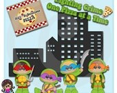 2015 Warrior Turtle Boys  Clip art  Clipart Graphics  Commercial Use