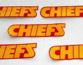 "Kansas City Chiefs ""NO SEW"" Appliques 5 chiefs"