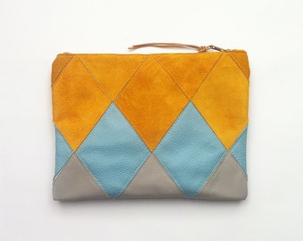 20% DISCOUNT // Patchwork Zip Clutch // Was 75 Euros Now 60 Euros
