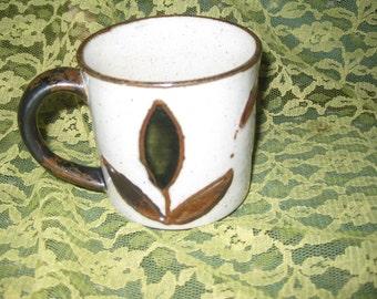 Otagiri Tulip Mug Cup Great, Retro Flower Mug, Vintage Great Flower mug, 10-12 ounces