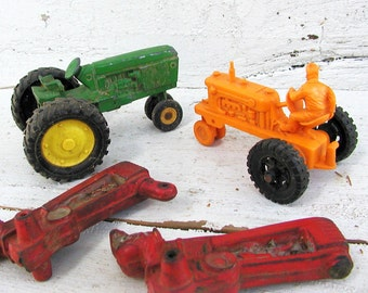 Toy Tractor Lot John Deere Barr Arcor 4 Pieces