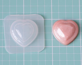 Greek Key Heart Jewel Plastic Resin Mold 27mm GKHT27-01