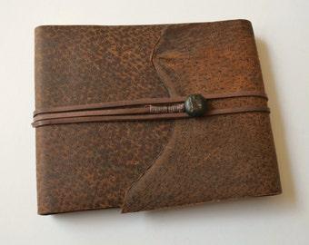 Distressed THINLINE Leather Notebook Planner Vintage Art Sketchbook (504B)