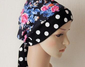 Chemo hats. Chemo headwear, hair loss headscarf, cancer patient headcovering, scrub cap.