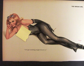 Vargas Pin-Up Girl from January 1976 Playboy Magazine