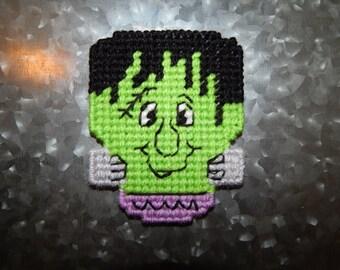 Hand Stitched Halloween Frankenstein Magnet