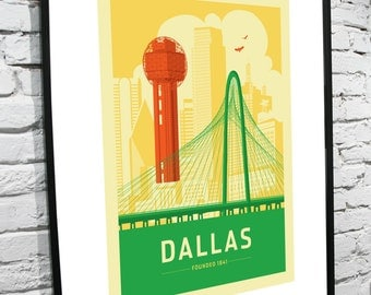 Dallas, Texas Skyline 11x17 poster