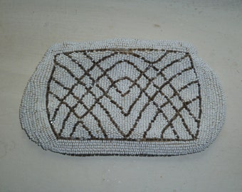 Small Beaded Purse, Coin Purse, Beaded Wallet, Purse with Belt Loop, Hand Made in Belgium