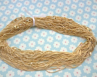 Get 5 pcs of our Gold Plated/ Snake Chain Necklaces/Jewelry supply/17 inch