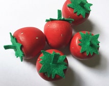 Strawberries/READY TO SHIP/Wooden Play Food/Gifts for Kids/Gifts Under 15/Birthday Gift/Wooden Toys/Pretend Kitchen