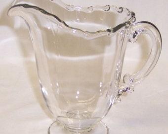 Fostoria Glass Crystal CENTURY 6 1/4 Inch High Milk or Juice Pitcher