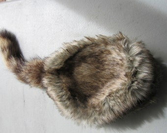 Raccoon Tail  Hat/Cap Davy Crocket COON Hat Adult/Child Sizes