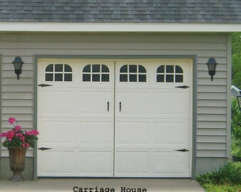 Garage door window decal - Carriage House single stall