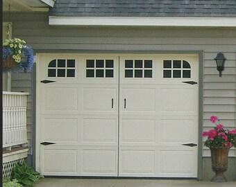Garage door window Traditional single stall style