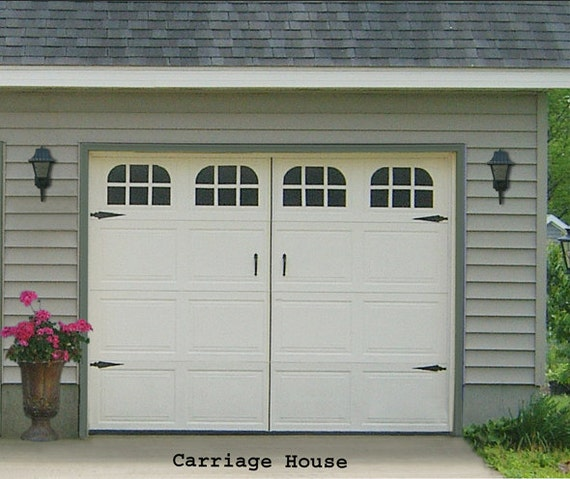 Garage Door Vinyl Window Decals: Garage Door Window Decal Carriage House Single Stall