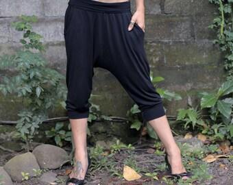 Drop pants ~ Yoga pants ~ Bamboo ~ Women pants ~ Lounge pants ~ Harem Pants
