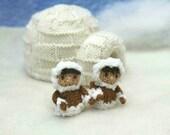 Eskimo and igloo knitting pattern PDF