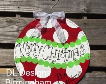 SALE Christmas Ornament Door Hanger