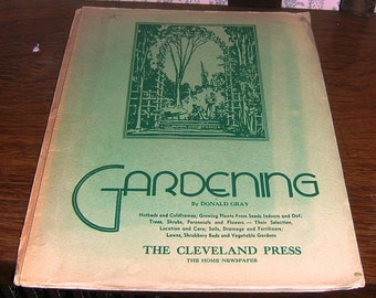 The Cleveland Press Vintage Gardening Manual plus Period Advertisement
