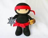 Plush ninja stuffed doll