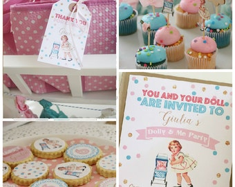 Dolly Vintage Party Printable KIT - Doll Party - vintage girl - Digital File - Printable Party
