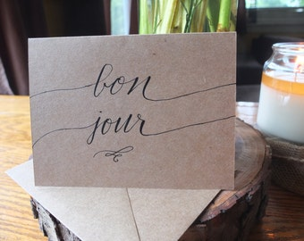 Bon Jour- Greeting Card
